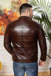 Хит сезона Стильная мужская кожаная куртка. Фото 1.