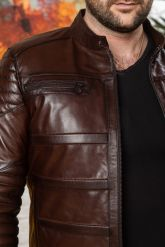 Хит сезона Стильная мужская кожаная куртка. Фото 2.