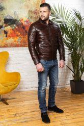 Хит сезона Стильная мужская кожаная куртка. Фото 7.
