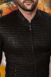 Мужская кожаная куртка со стрейчем. Фото 2.