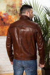 Мужская кожаная куртка на молнии Весна 2020. Фото 1.