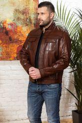 Мужская кожаная куртка на молнии Весна 2020. Фото 4.