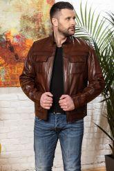 Мужская кожаная куртка на молнии Весна 2020. Фото 7.