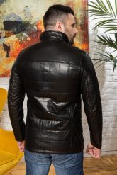 Мужская кожаная куртка с планкой. Фото 1.