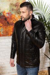 Мужская кожаная куртка с планкой. Фото 5.