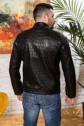 Мужская кожаная куртка под кроку. Фото 2.