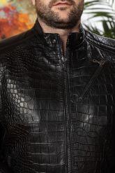 Мужская кожаная куртка под кроку. Фото 3.