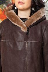 Европейская дубленка коричневого цвета. Фото 2.