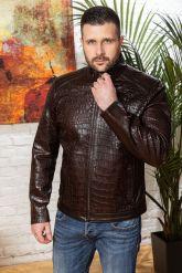 Мужская кожаная куртка коричневого цвета. Фото 4.