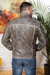 Короткая мужская кожаная куртка. Фото 1.