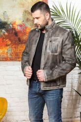 Короткая мужская кожаная куртка. Фото 4.