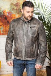 Короткая мужская кожаная куртка. Фото 5.
