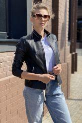 Стильная кожаная куртка для молодых дам. Фото 3.