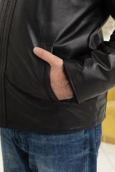 Мужская дубленка средней длины. Фото 2.