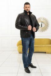 Мужская дубленка средней длины. Фото 5.
