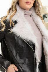 Стильная утепленная кожаная куртка. Фото 2.