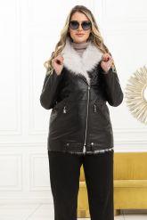 Стильная утепленная кожаная куртка. Фото 7.