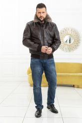 Мужская кожаная куртка со съемной пдстежкой DAYTONA. Фото 1.