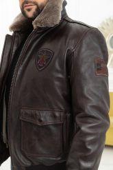 Мужская кожаная куртка со съемной пдстежкой DAYTONA. Фото 2.
