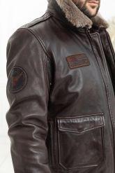 Мужская кожаная куртка со съемной пдстежкой DAYTONA. Фото 5.