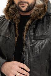 Зимняя мужская дубленка с мехом енота. Фото 2.