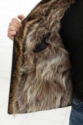 Зимняя мужская дубленка с мехом енота. Фото 3.
