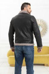 Мужская косуха с мехом керли. Фото 6.