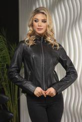 Стильная кожаная куртка для молодых дам. Фото 1.