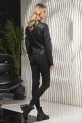 Стильная кожаная куртка для молодых дам. Фото 2.