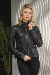 Стильная кожаная куртка для молодых дам. Фото 4.