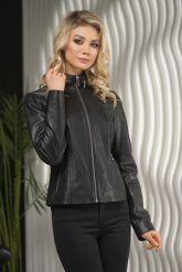 Стильная кожаная куртка для молодых дам. Фото 5.