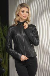 Стильная кожаная куртка для молодых дам. Фото 6.
