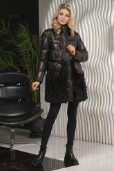 Теплое кожаное женское пальто. Фото 5.