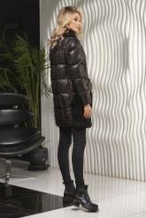 Теплое кожаное женское пальто. Фото 7.
