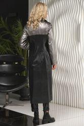 Женский кожаный плащ 2021 LW. Фото 2.