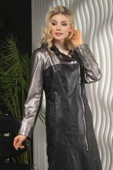 Женский кожаный плащ 2021 LW. Фото 3.