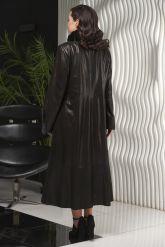 Длинное итальянское пальто из замши. Фото 2.
