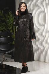 Длинное итальянское пальто из замши. Фото 4.