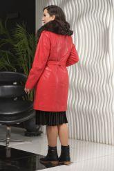 Стильное кожаное пальто. Фото 2.