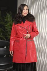 Стильное кожаное пальто. Фото 4.