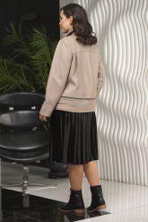 Женская кожаная куртка больших размеров-трансформер. Фото 2.