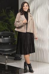 Женская кожаная куртка больших размеров-трансформер. Фото 3.