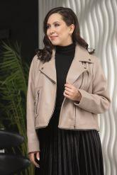 Женская кожаная куртка больших размеров-трансформер. Фото 4.