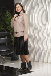 Женская кожаная куртка больших размеров-трансформер. Фото 5.