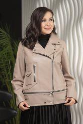 Женская кожаная куртка больших размеров-трансформер. Фото 6.