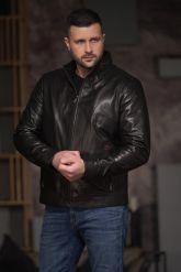 Хит продаж Мужская кожаная куртка. Фото 5.