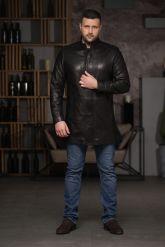 Мужской кожаный френч. Фото 1.