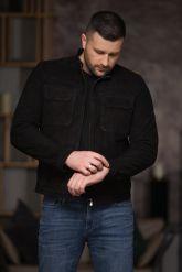 Замшевая мужская куртка. Фото 3.