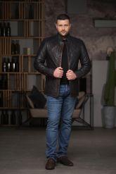 Утепленный стеганный мужской пиджак. Фото 1.