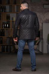 Утепленный стеганный мужской пиджак. Фото 2.